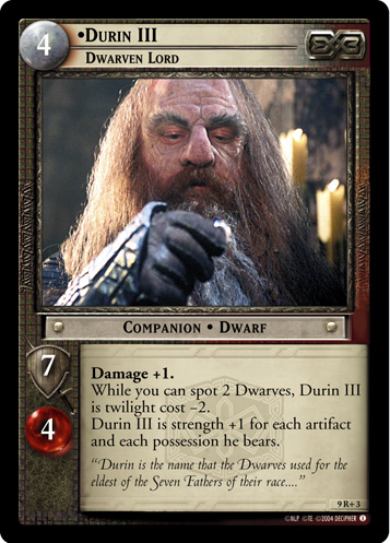 Durin III, Dwarven Lord (9R+3) Card Image