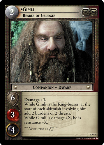 Gimli, Bearer of Grudges (9R+4) Card Image