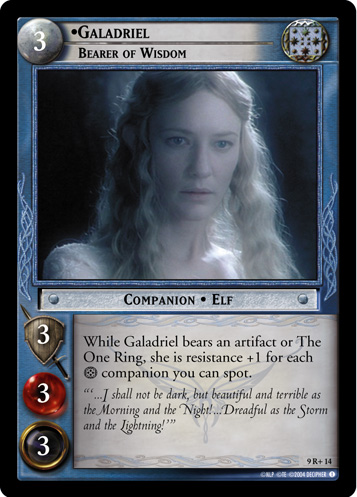 Galadriel, Bearer of Wisdom (9R+14) Card Image