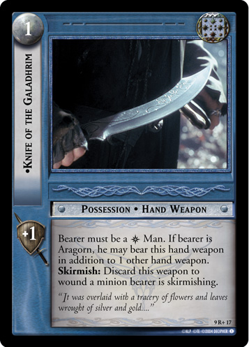 Knife of the Galadhrim (9R+17) Card Image