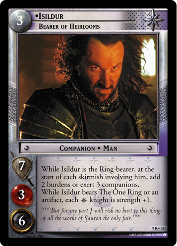 Isildur, Bearer of Heirlooms (9R+33) Card Image
