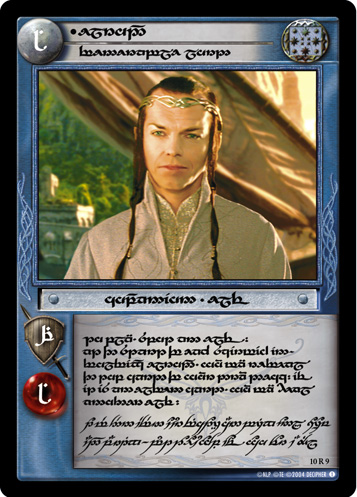 Elrond, Venerable Lord (T) (10R9T) Card Image