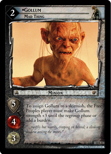 Gollum, Mad Thing (10R21) Card Image