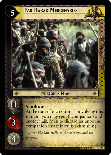 Far Harad Mercenaries (10C42) Card Image