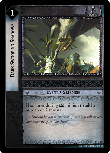 Dark Swooping Shadows (10R58) Card Image