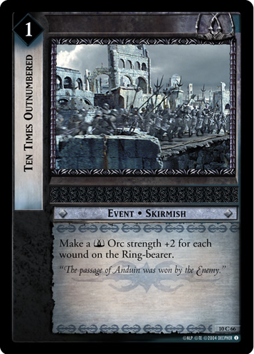 Ten Times Outnumbered (10C66) Card Image