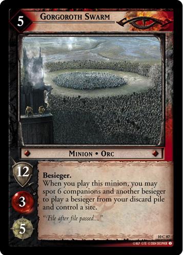 LotR TCG Wiki: Gorgoroth Swarm (10C87)