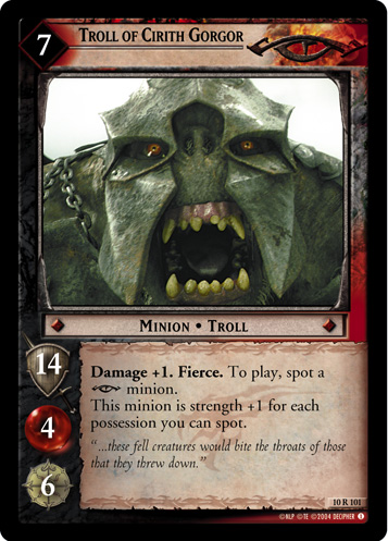 Troll of Cirith Gorgor (10R101) Card Image