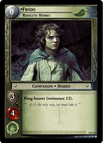 Frodo, Resolute Hobbit (10P121) Card Image