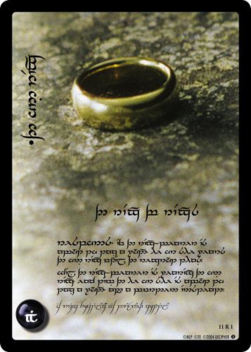 The One Ring, The Ring of Rings (T) (11R1T) Card Image
