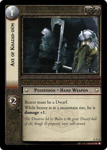 Axe of Khazad-dum (11U3) Card Image