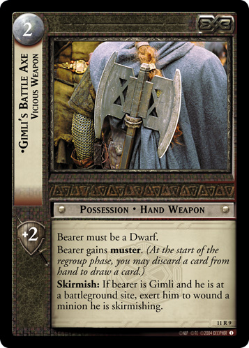 Gimli's Battle Axe, Vicious Weapon (11R9) Card Image