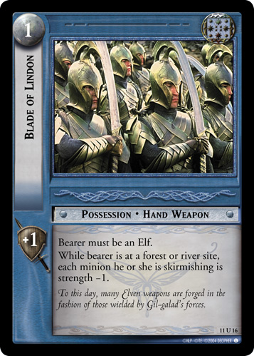 Blade of Lindon (11U16) Card Image