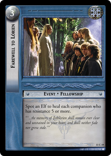 Farewell to Lorien (11C19) Card Image