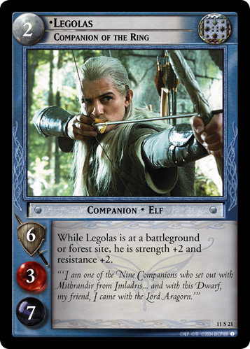 Legolas, Companion of the Ring (11S21) Card Image