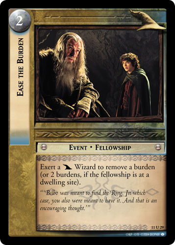 Ease the Burden (11U29) Card Image