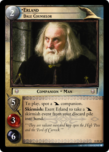 Erland, Dale Counselor (11R30) Card Image