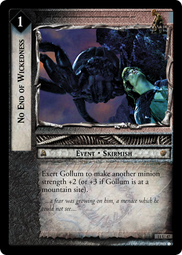 No End of Wickedness (11U47) Card Image