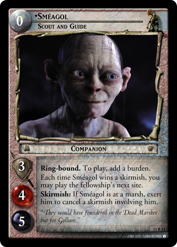 Smeagol, Scout and Guide (11R51) Card Image