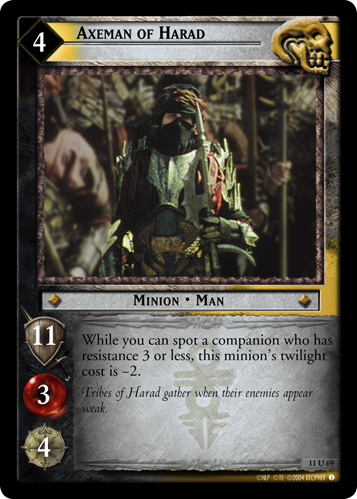 Axeman of Harad (11U69) Card Image