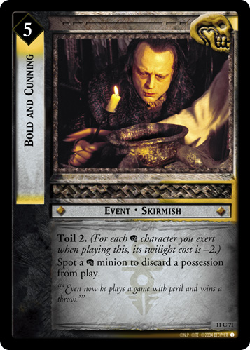 Bold and Cunning (11C71) Card Image