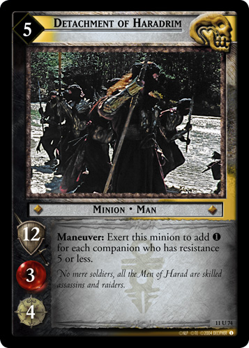 Detachment of Haradrim (11U74) Card Image