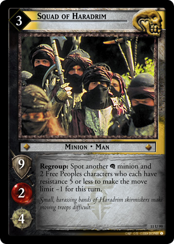 Squad of Haradrim (11U99) Card Image