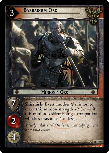 Barbarous Orc (11C107) Card Image