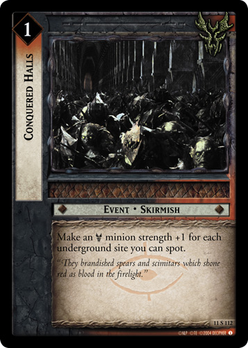 Conquered Halls (11S112) Card Image