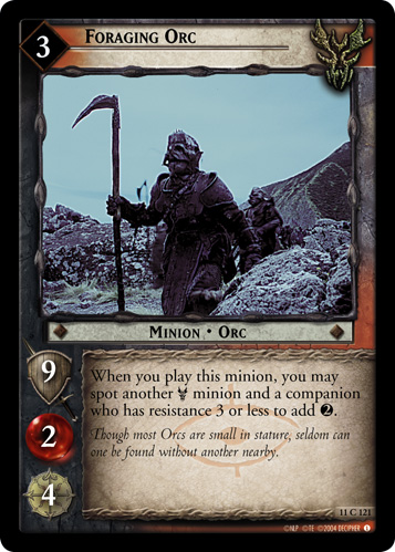 Foraging Orc (11C121) Card Image