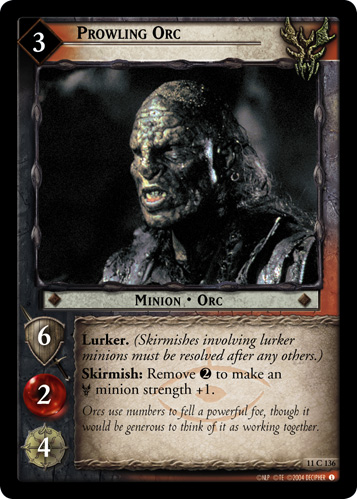 Prowling Orc (11C136) Card Image