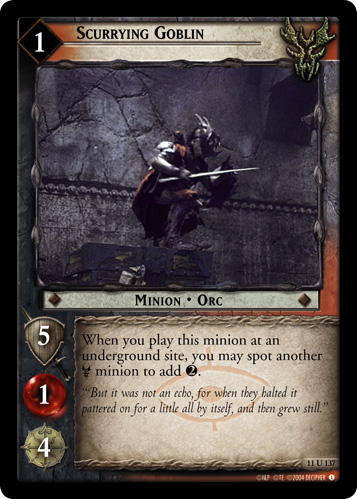 Scurrying Goblin (11U137) Card Image