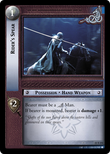Rider's Spear (11S153) Card Image