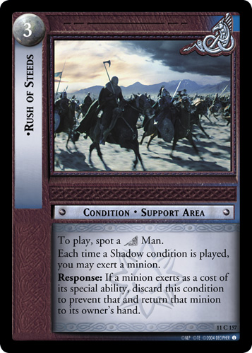 Rush of Steeds (11C157) Card Image