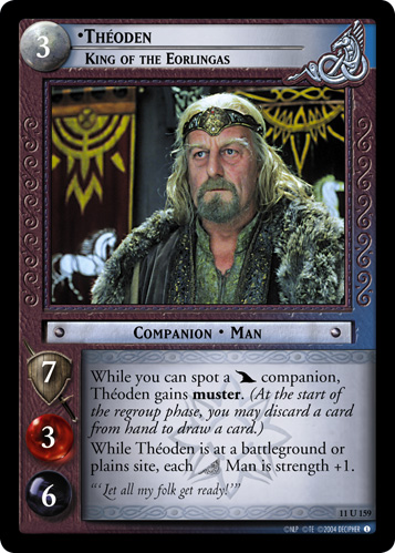 Theoden, King of the Eorlingas (11U159) Card Image