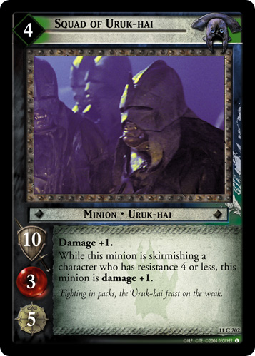 Squad of Uruk-hai (11C202) Card Image