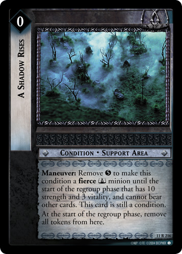 A Shadow Rises (11R216) Card Image