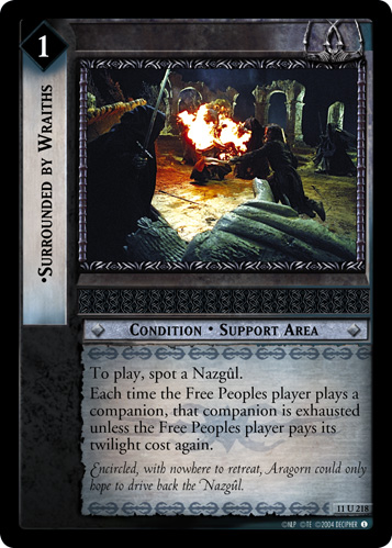 Surrounded by Wraiths (11U218) Card Image