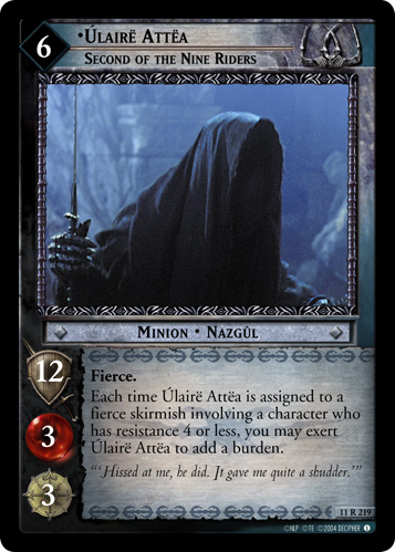 Ulaire Attea, Second of the Nine Riders (11R219) Card Image