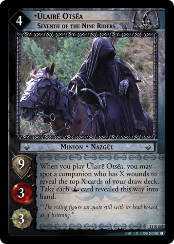 Ulaire Otsea, Seventh of the Nine Riders (11R224) Card Image
