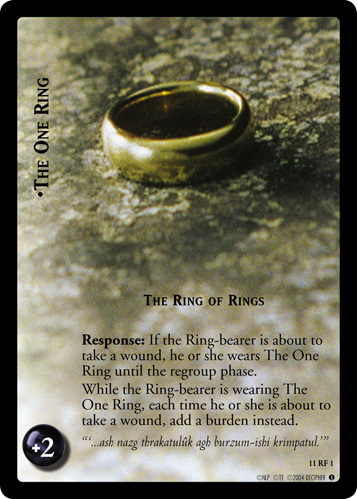 The One Ring, The Ring of Rings (F) (11RF1) Card Image