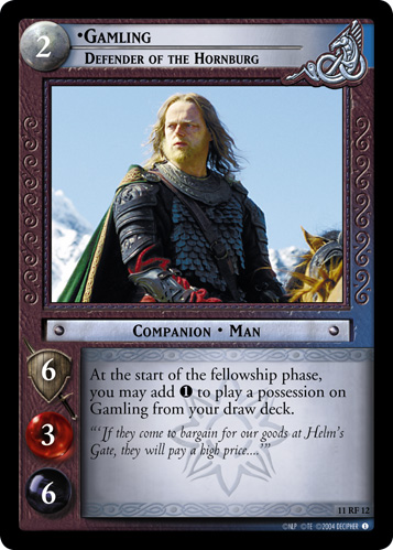 Gamling, Defender of the Hornburg (F) (11RF12) Card Image