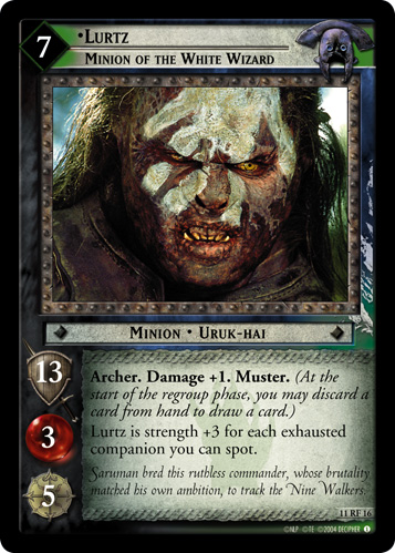 Lurtz, Minion of the White Wizard (F) (11RF16) Card Image