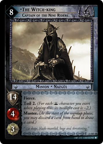The Witch-king, Captain of the Nine Riders (F) (11RF18) Card Image