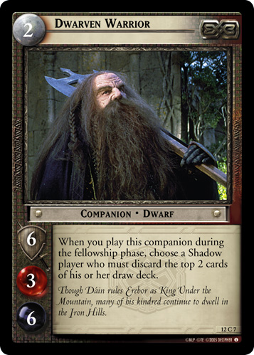 Dwarven Warrior (12C7) Card Image
