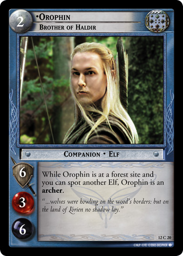 Orophin, Brother of Haldir (12C20) Card Image