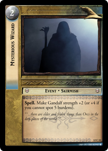Mysterious Wizard (12C31) Card Image