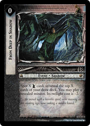 From Deep in Shadow (12R38) Card Image
