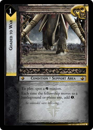 Goaded to War (12C67) Card Image