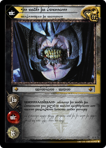 The Mouth of Sauron, Messenger of Mordor (T) (12S73T) Card Image